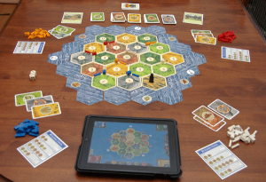 Catan Game Laid Out