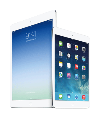 Apple iPad Air and iPad Mini with Retina