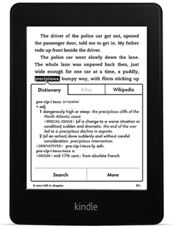 Kindle X-Ray and Wikipedia Features