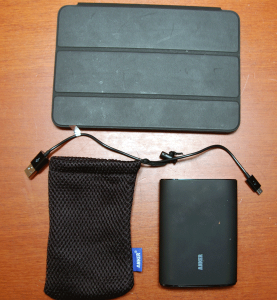 Astro3, Pouch and Cable Next to iPad Mini