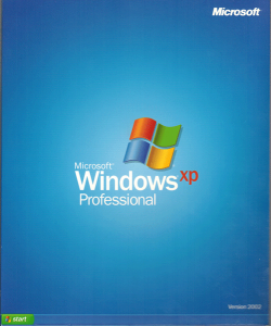 Cover from my copy of Windows XP dated version 2002.