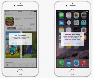 iOS 8 Family Share Parent notifications