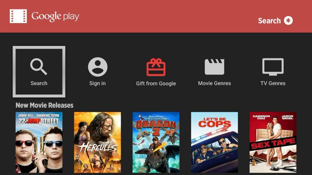 Google Play Roku Screenshot