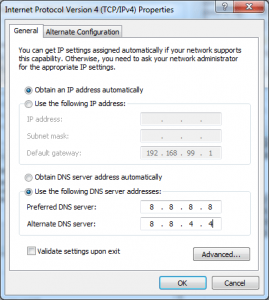 Windows DNS Settings