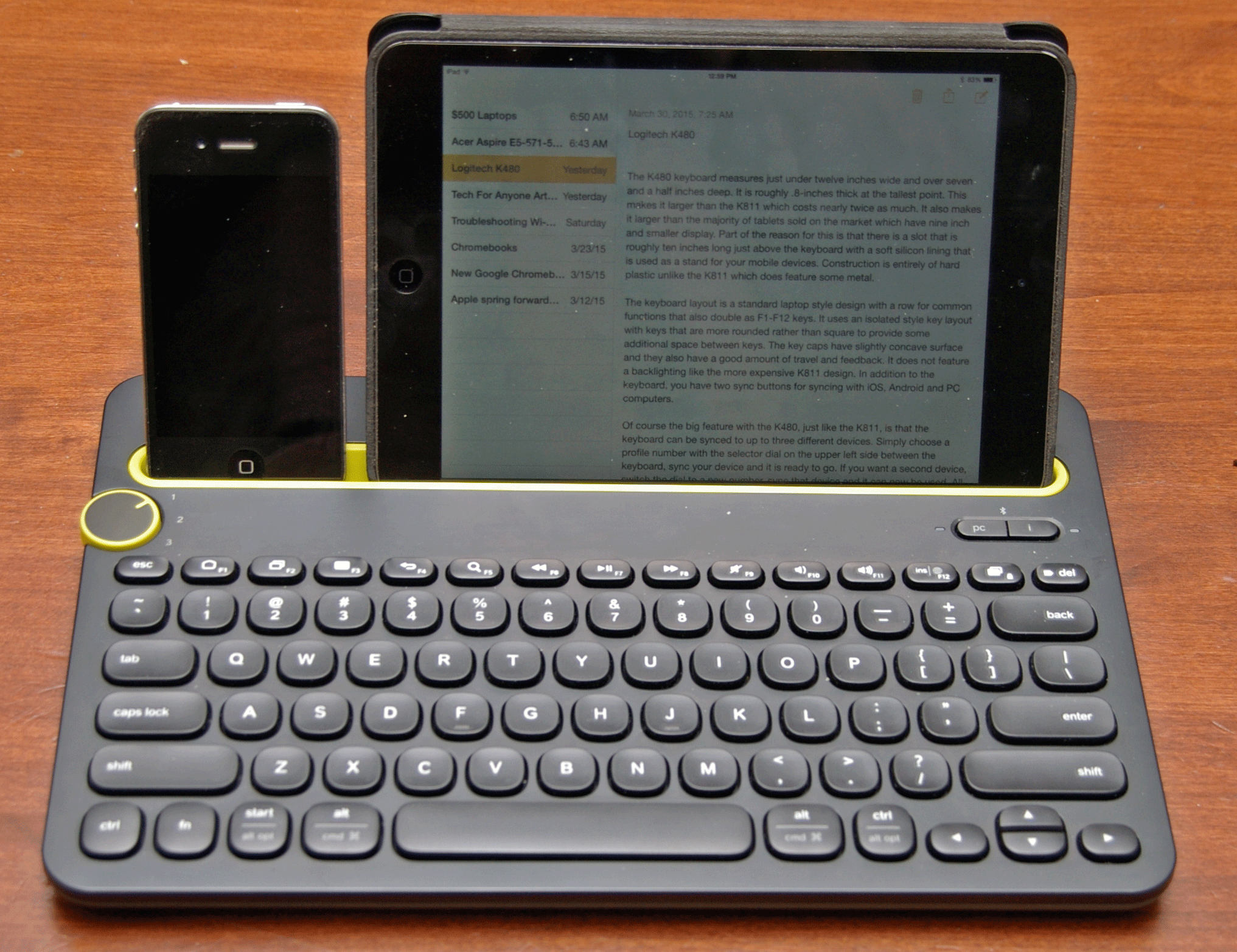 Logitech K480 Is Affordable Option For Multiple Devices Tech Keyboard Bluetooth With