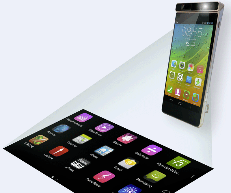 Lenovo Smart Cast Concept Projection Smart Phone
